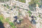 Frana di Castelmola, rocciatori al lavoro per la messa in sicurezza