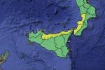 Meteo, maltempo in Calabria e Sicilia: domani allerta gialla sui versanti tirrenici