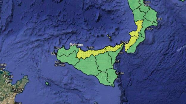 allerta gialla calabria, allerta gialla sicilia, previsioni meteo, Sicilia, Meteo
