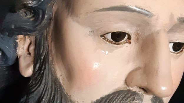lacrime statua san francesco, Felice Palamara, Luigi Renzo, Catanzaro, Calabria, Cronaca