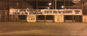 Messina, nuovo striscione anti-Sciotto allo stadio