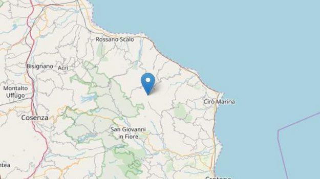 ingv, terremoto campana, terremoto nel cosentino, Cosenza, Calabria, Cronaca