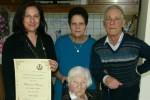 Morano Calabro in festa, nonna Francesca compie 100 anni