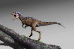 Rappresentazione grafica dell'antenato del T-rex, Moros intrepidus, piccolo come un canguro. (fonte: Jorge Gonzalez)