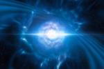 Rappresentazione artistica della collisione di due stelle di neutroni (fonte: ESO/L. Calçada/M. Kornmesser)