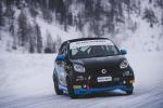 Smart EQ fortwo e-cup, test sulla neve per le racecar