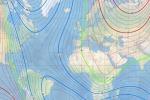 La nuova Mappa magnetica globale, pubblicata con un anno di anticipo a causa del rapido spostamento del Polo Nord magnetico verso la Siberia (fonte: NOAA NCEI)