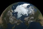 L'Artico visto dai satelliti (fonte: NASA/Goddard Space Flight Center Scientific Visualization Studio)