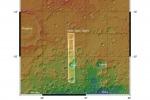Un sistema di valli su Marte fotografato dalla sonda Mars Express (fonte: ASA MGS MOLA Science Team; Map compilation: Freie Universitat Berlin)