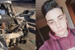 Drammatico scontro a Corigliano, in auto contro un pullman: muore a 19 anni, ferito il fratello di 14