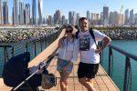 Costanza Caracciolo e Bobo Vieri in vacanza a Dubai: è la prima con la figlia Stella