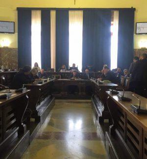 L'aula consiliare del Comune di Messina