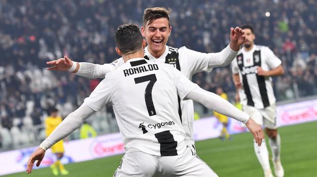 Juventus-Frosinone, serie a, Cristiano Ronaldo, Paulo Dybala, Sicilia, Sport