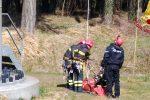 Vigili del fuoco, esercitazione al parco eolico di Polia: tutte le foto