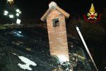 Zafferana Etnea, a fuoco il tetto di una casa: sgomberati padre e figlio - Foto