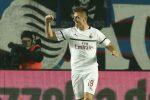 Piatek e Calhanoglu trascinano il Milan: Atalanta battuta