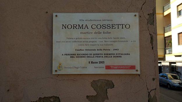 foibe, giornata del ricordo, reggio, Norma Cossetto, Reggio, Calabria, Cronaca