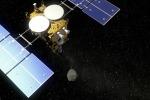 La sonda Hayabusa-2 in discesa verso l'asteroide Ryugu (fonte: DLR)