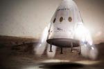 Rappresentazione artistica della capsula per Marte progettate dalla SpaceX di Elon Musk. (fonte: SpaceX, Flickr)