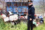 Rifiuti pericolosi in un campo a Malvito, denunciato un imprenditore