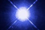 Rappresentazione artistica della stella Sirio, distante 8 anni luce (fonte: NASA, ESA, H. Bond/STScI e M. Barstow, University of Leicester)