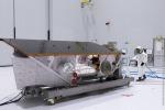 Il satellite Prisma nella base europea di Kourou si prepara al lancio, previsto il 15 marzo (fonte: ASI)