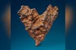 Il meteorite a forma di cuore che Christie's si prepara a battere all'asta (fonte: Christie's)
