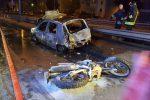 Messina, ruba una moto e fugge ma finisce contro un'auto e prende fuoco: gravissimo in ospedale - Foto