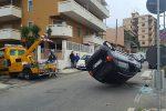 Incidente a Messina, auto si ribalta su viale Annunziata: traffico paralizzato