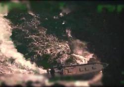Le drammatiche scene al largo della costa del Pacifico