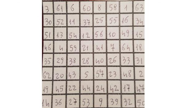 quadrato magico ordine 8, reggino, risolve enigma, Reggio, Calabria, Società