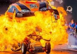 La terribile scena durante una gara di dragster a Perth, in Australia