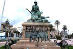 Messina, imbrattato il monumento ai caduti della Batteria Masotto