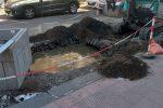 Messina, fogna a cielo aperto in viale Regina Elena: liquami per strada - Foto