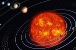 Rappresentazione artistica del Sistema Solare. Sulla destra i pianeti più interni (fonte: NASA)