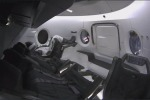 Il manichino Ripley pronto a volare all'interno della capsula Crew Dragon (fonte: Elon Musk, Twitter)