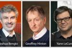 I vincitori del Premio Turing. Da sinistra: Yoshua Bengio (fonte: Maryse Boyce), Geoffrey Hinton (fonte: Keith Penner) e Yann LeCun (fonte: Facebook)