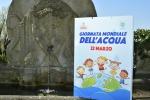La locandina della Giornata Mondiale dell'Acqua a Villa Panna