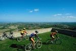 Da Usa e Uk pedalando su colline Romagna