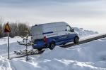 Test invernali in Svezia per l'elettrico Mercedes e-Sprinter