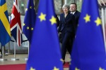 Theresa May al suo arrivo al Consiglio europeo