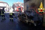 Auto e abitazione in fiamme, vigili del fuoco in azione a Spilinga e a Stefanaconi