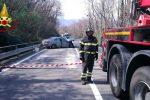 Incidente sulla Statale 107 a San Fili con tre feriti, strada chiusa al traffico
