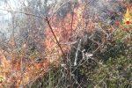 Incendio a Olivadi, oltre tre ettari di vegetazione in fumo