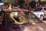 Grave una donna travolta da un'auto a Messina, il forte impatto distrugge il parabrezza