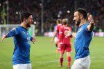 Euro 2020, goleada Italia contro il Liechtenstein: 6-0 con un super Quagliarella