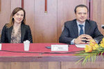 Rossana Carrubba con il sindaco De Luca