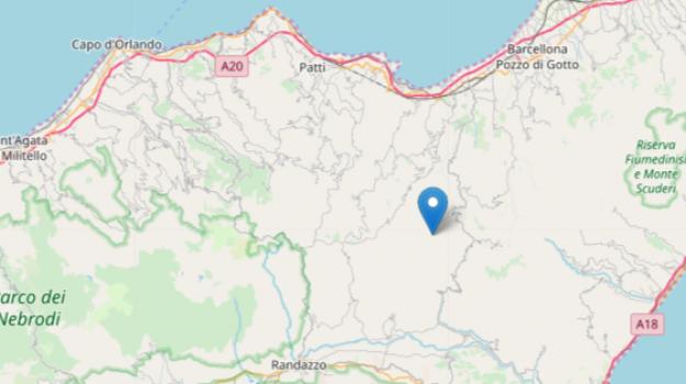 novara di sicilia, scossa terremoto nebrodi, terremoto sicilia, Messina, Sicilia, Cronaca