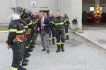 Vigili del fuoco, il capo del corpo nazionale in visita a Catanzaro: le foto