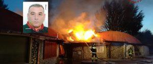 L'incendio a Cotronei e Vincenzo Teti nel riquadro